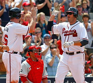 The Braves add to their lead over the Phillies with Troy Glaus' home run in the seventh.  (Getty Images)