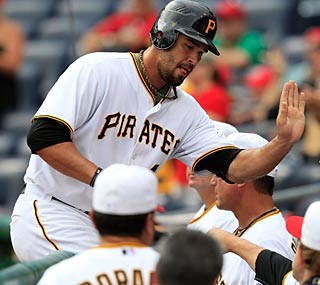 Garrett Jones goes yard against the Cubs and the Pirates end their five-game losing streak.  (Getty Images)