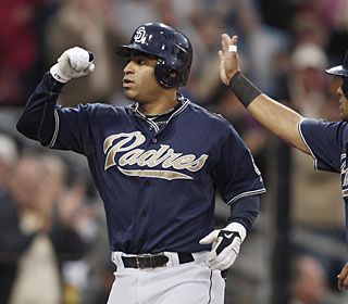 Jerry Hairston Jr.'s grand slam in the second gets the Padres going and they never look back.  (AP)