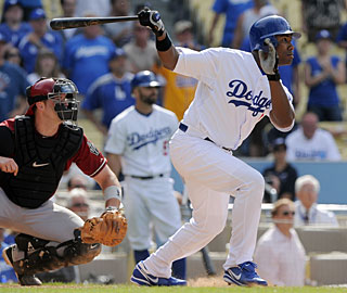 Garret Anderson leads the Dodgers to an extra-inning win for the second consecutive day. (AP)