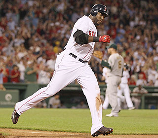 Look who's still raking. David Ortiz goes 2 for 2 and whacks his 12th homer of the year. (Getty Images)