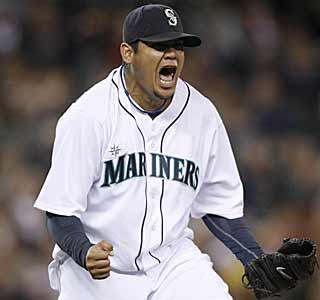 Let it out Felix.  Hernandez snaps a personal four-game skid by dominating the Twins over eight innings. (AP)