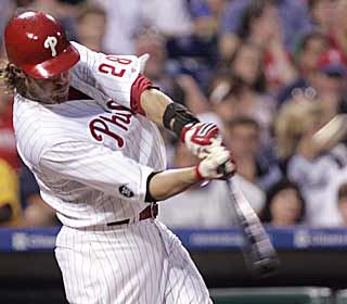 Marred in a team slump, Jayson Werth helps the Phillies break out with a two-run home run in the fifth. (AP)