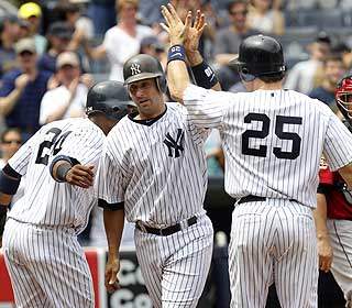 Jorge Posada highlights the Yanks' win with his first grand slam since July 26, 2004. (AP)