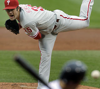 The Phillies desperately needed a good start in Boston, and Cole Hamels gives them one Sunday.  (AP)