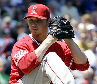 Scott Kazmir allows two runs on five hits in six innings to outpitch Carlos Silva, who falls to 8-2. (AP)