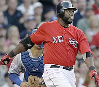 David Ortiz steals the Manny show with his early homer that ties Ramirez on Boston's all-time list. (AP)