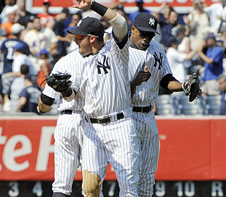The Yankees get the job done and have a chance to tie the Subway Series with a win Sunday. (AP)