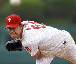 Jamie Moyer one-ups his three-hitter against the Yanks by holding the Indians to just two in eight innings.  (AP)