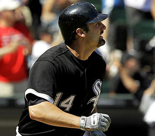 Paul Konerko homers to drive in the lone runs as the White Sox improve to 13-2 against the NL in 2010. (AP)