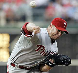 In Citizens Bank Park -- playing as the road team -- Roy Halladay has no problem handling his former team. (AP)