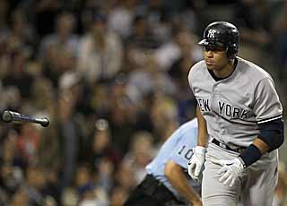 Alex Rodriguez comes up big against his old manager by hitting the go-ahead home run in the sixth inning. (AP)