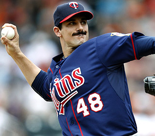 Carl Pavano allows only three hits on the way to his second consecutive complete game.  (AP)
