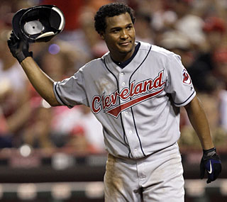 Anderson Hernandez and the Indians have lost 11 of 12 and are 21 games below .500.  (AP)