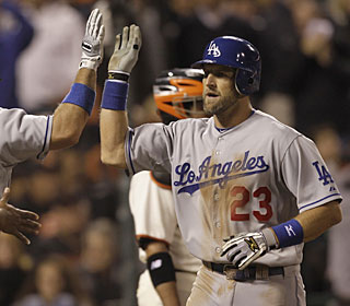 Casey Blake's eighth homer of the season is enough to lead the struggling Dodgers.  (AP)