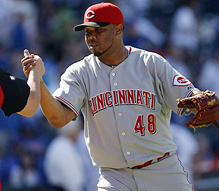 Francisco Cordero closes out the win for Cincy, whose streak in extra innings dates to June 2009. (AP)