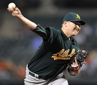 Trevor Cahill pitches seven innings of four-hit ball and moves to 7-0 with a 2.12 ERA in his past nine starts. (AP)