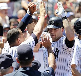 Alex Rodriguez and Brett Gardner combine for eight RBI in New York's win over Toronto.  (US Presswire)