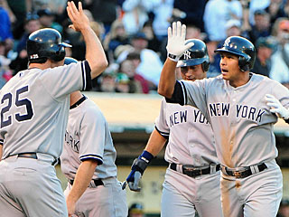 Alex Rodriguez knocks his 21st career grand slam, two shy of the record held by Lou Gehrig.  (US Presswire)