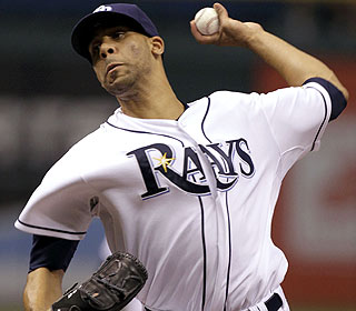 David Price strikes out 10 over 7 2/3 innings in becoming the AL's first 12-game winner. (AP)