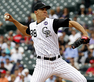 Ubaldo Jimenez is the first pitcher to reach 15 wins before the All-Star break since 2000 (David Wells). (AP)