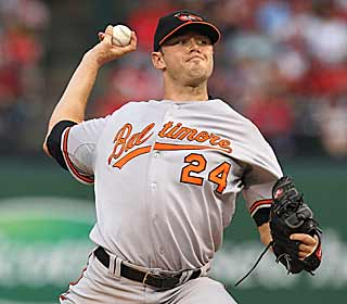 By tossing a no-hitter into the seventh, Chris Tillman steals the thunder in Cliff Lee's debut. (Getty Images)