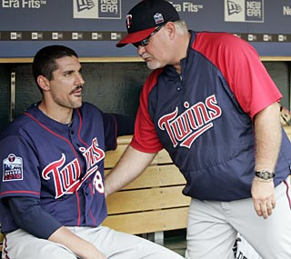 Carl Pavano, who is 5-0 in his last seven starts, has a big fan in manager Ron Gardenhire.  (AP)