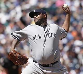 CC Sabathia (12-3) throws a gem against the Mariners to win his eighth straight decision.  (AP)