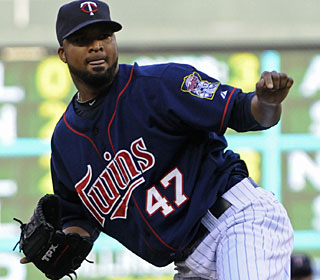 Francisco Liriano strikes out eight and allows six hits, improving his record to 7-7. (AP)
