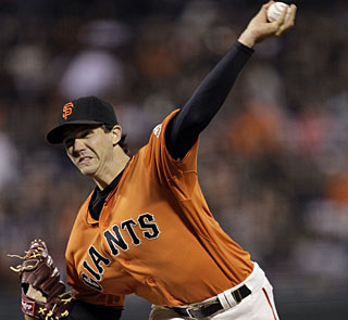 Barry Zito matches his season high for strikeouts by taking down 10 Mets. (AP)