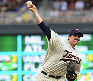 Carl Pavano goes the distance, throwing 104 pitches, giving up seven hits and striking out six. (AP)