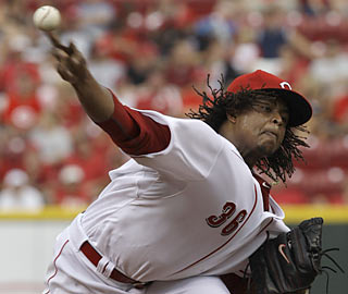 Edinson Volquez's return makes Cincy even tougher to contend with in the NL Central and beyond.  (AP)