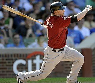 Pinch-hitter Jason Michaels hits a two-out, two-run double in the 12th to win it for Houston. (AP)