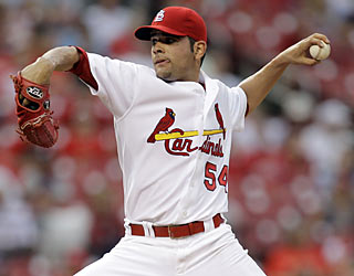 Not too shabby for a rookie: Jaime Garcia goes seven innings and allows just four hits while striking out six.  (AP)