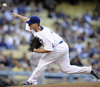 Chad Billingsley labors for 125 pitches to earn his second career shutout and third complete game. (AP)