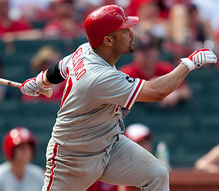 Placido Polanco homers leading off the 11th as Philly averts a four-game sweep. (Getty Images)