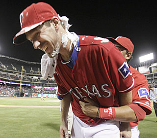 Cliff Lee earns his ninth win by holding the Angels to five hits and two runs.  (AP)