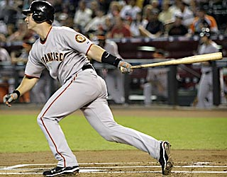 Buster Posey's 18-game hitting streak is the second-longest by a Giants rookie. (AP)
