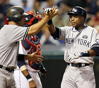 Curtis Granderson isn't close to 600 home runs, but his two-run shot is the biggest of the night.  (Getty Images)