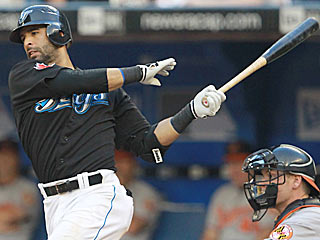 Jose Bautista provides a pair of homers and five RBI to help his team prevail over the Orioles. (Getty Images)