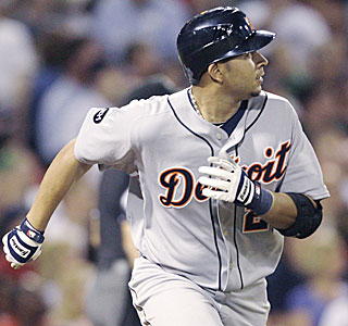Not a bad debut: Jhonny Peralta hits two homers in his first game with the Tigers.  (AP)