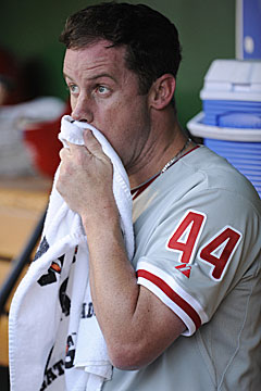 Philly manager Charlie Manuel on Roy Oswalt: 'He's still good. He's going to be fine.' (US Presswire)