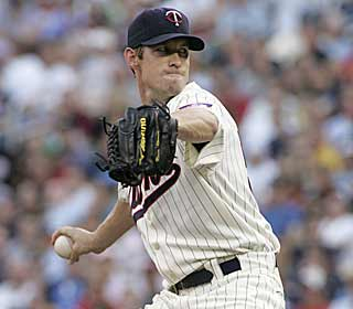 Kevin Slowey fires eight strong innings and ties a season low by allowing just three base hits. (AP)