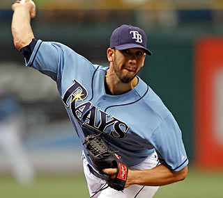 James Shields is brilliant for the Rays, striking out 11 and walking one in 7 1/3 innings.  (Getty Images)