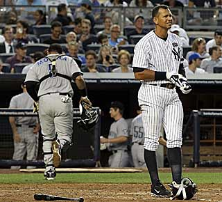 A-Rod's quest for 600 will have to wait another day as the Yankees slugger goes 0 for 5. (Getty Images)
