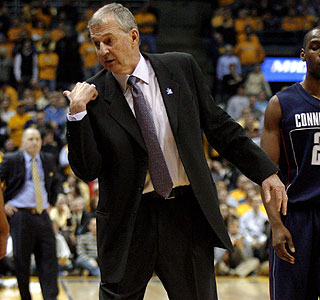 Jim Calhoun enters an elite class of Division I coaches who've won 800 or more career games.