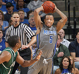 Antonio Anderson is part of a trio of seniors that has won 132 games in four years at Memphis.  (AP)
