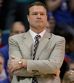 Bill Self's work with a brand new starting five earns him accolades. (US Presswire)