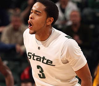 Chris Allen's Spartans move a step closer to their first Big Ten tournament title since 2000.  (Getty Images)
