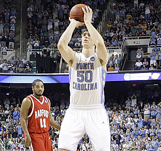 A first-half free throw puts Tyler Hansbrough atop the ACC's all-time career scoring list.  (AP)